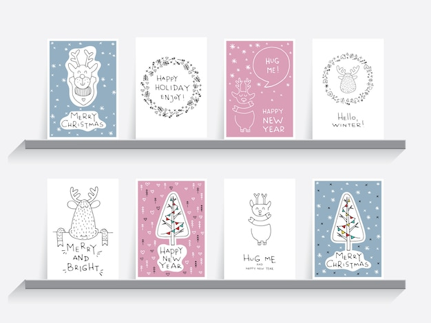 Greeting card christmas set