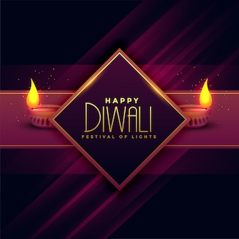 Greeting card design for diwali festival