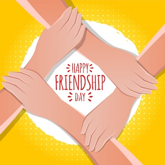 Greeting card design for happy friendship day