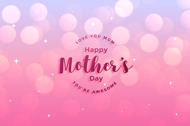 Greeting card design of happy mother's day