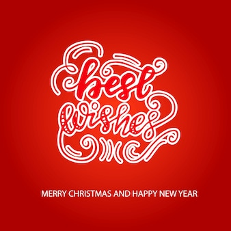 Greeting card design with lettering best wishes. vector illustration.