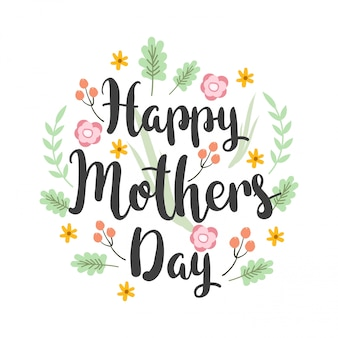 Greeting card design with lettering mother's day