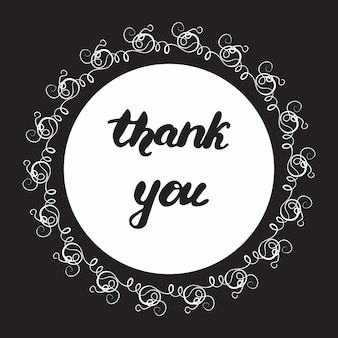 Дизайн поздравительной открытки с надписью спасибо. векторные иллюстрации.