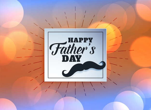 Greeting card for fathers day