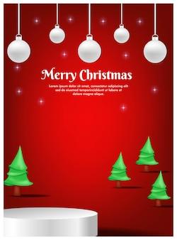 Поздравительная открытка на рождество с дисплеем продукта