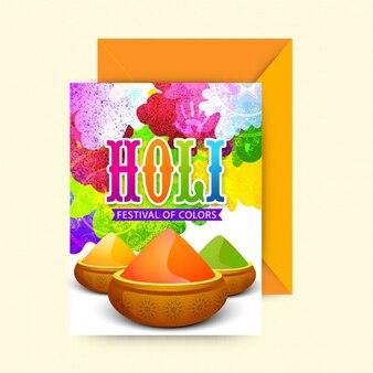 색상의 축제 인사말 카드
