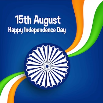 Greeting card for independence day of india-15 august