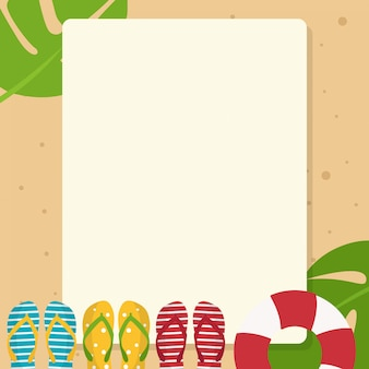 Greeting card and letter paper with summer theme