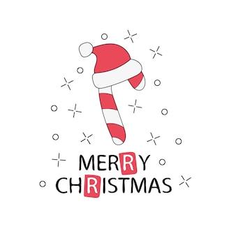 인사말 카드. 메리 크리스마스 글자입니다. 새해 카드 및 메리 크리스마스 포스터 또는 낙서 인쇄용 템플릿