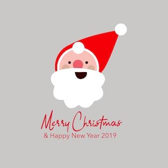 Greeting card santa clause