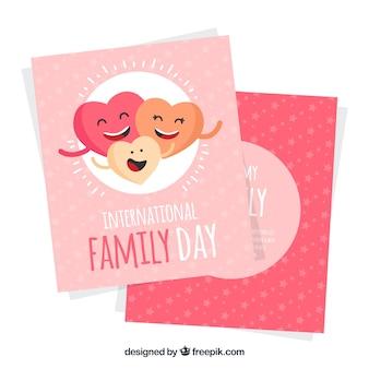 국제 가족의 날에 대 한 마음을 미소의 인사말 카드 서식 파일