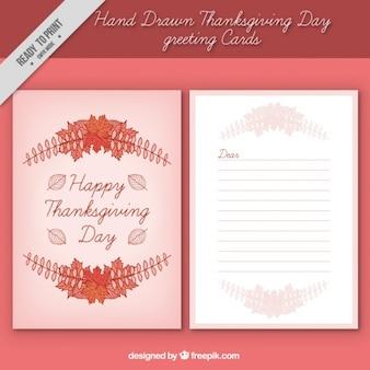 Greeting card of thanksgiving