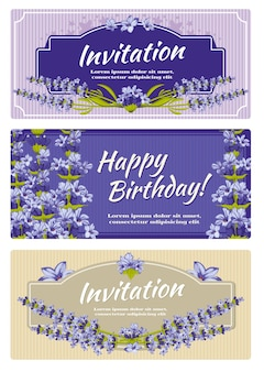 Greeting card wedding invitation vector template