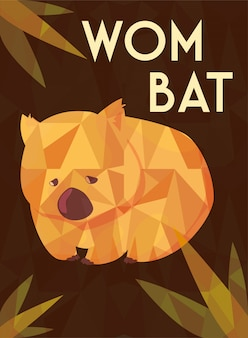 Greeting card with australian wombat