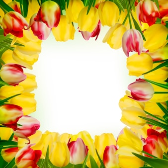 Greeting card with colorful flower.