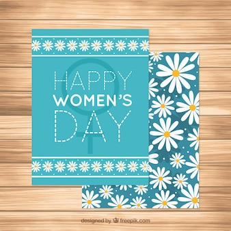 Greeting card with daisies for women's day
