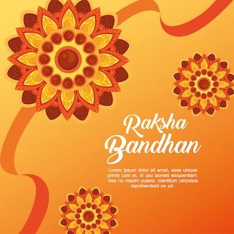 Greeting card with decorative set of rakhi for raksha bandhan, indian festival for brother and sister bonding celebration, the binding relationship