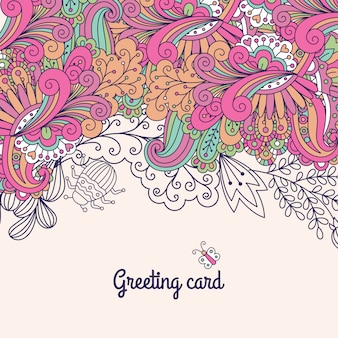 Greeting card with doodles