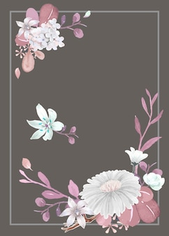 Greeting card with floral theme