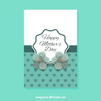 Greeting card with flowers and hearts for mother's day
