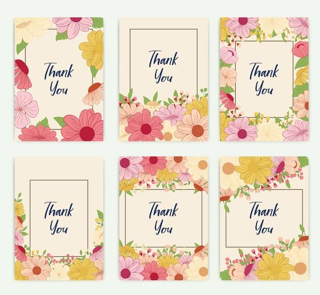 꽃 빈티지 인사말 카드입니다.