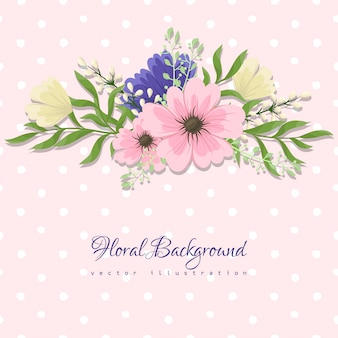 Greeting card with flowers, watercolor. vector frame