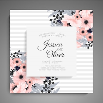 花とグリーティングカード