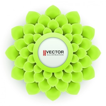Greeting card with light green flower