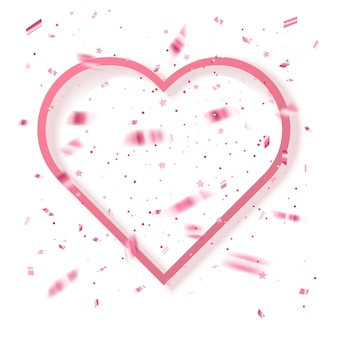 Greeting card with pink glitter valentins day greeting background