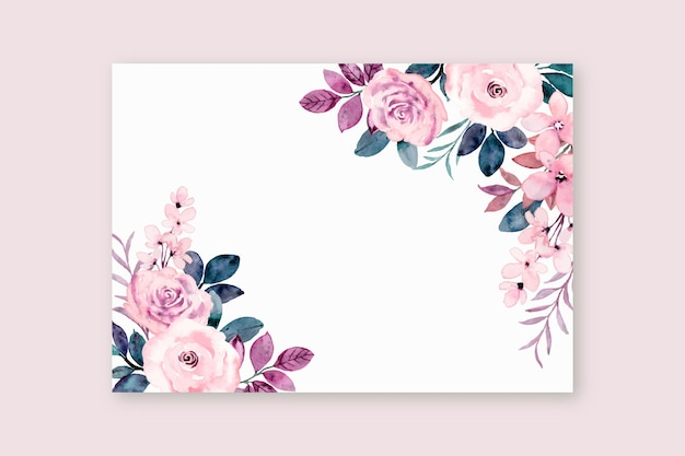 Greeting card with pink rose flower
