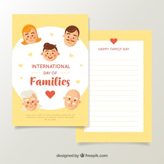 Greeting card with smiling family