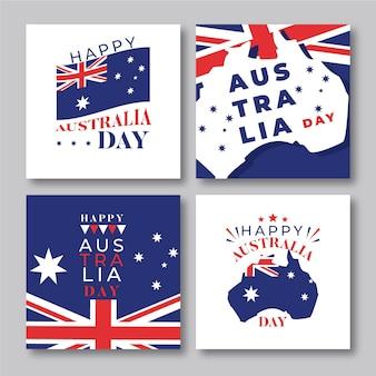 Biglietti di auguri impostati in australia day event