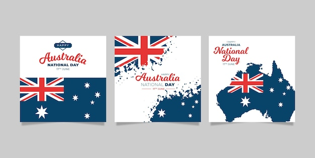 Greeting cards set australia day
