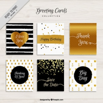 Greeting cards with glitter elements