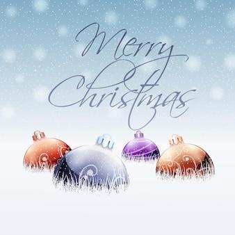 クリスマスカードの挨拶。