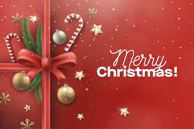 Greeting christmast background with stars decoration