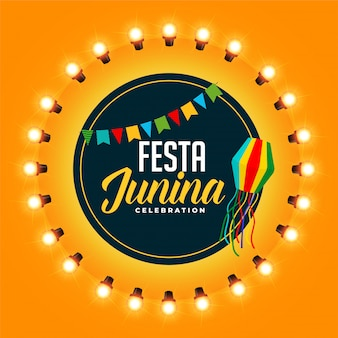 Greeting design for festia junina festival celebration