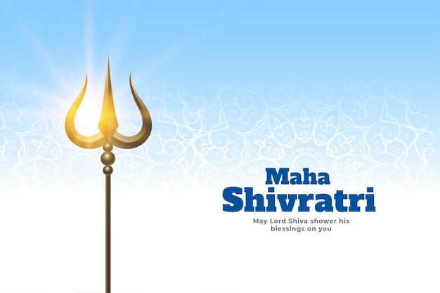 Greeting design of maha shivratri festival