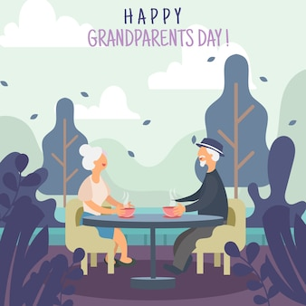 Greeting of grandparents day