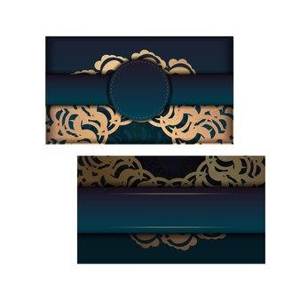 귀하의 브랜드에 대한 그리스 골드 패턴으로 그린 그라디언트 전단지를 인사하십시오.