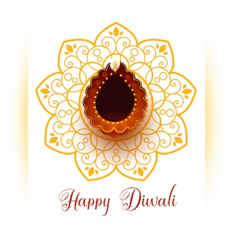 Greeting for happy diwali festival celebration