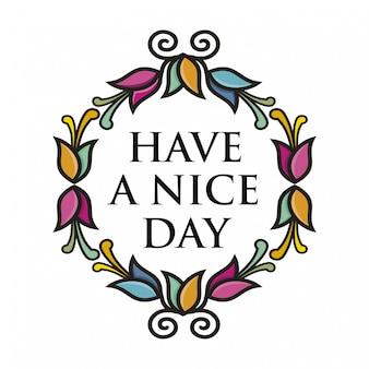 꽃과 함께 좋은 하루 템플릿 인사말