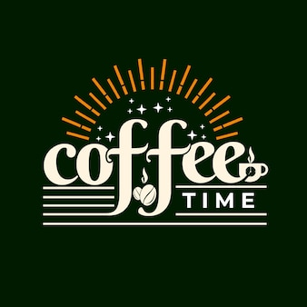 コーヒータイムレタリングデザインの挨拶