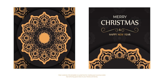 Greeting poster happy new year and merry christmas white color with winter ornament.