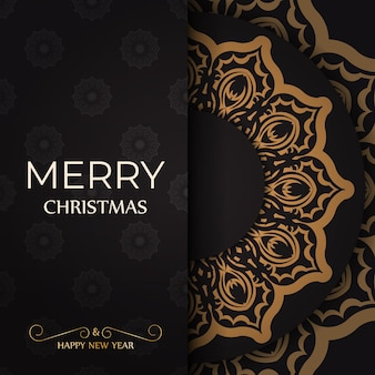 Greeting poster happy new year and merry christmas white with winter ornament.