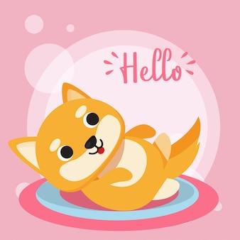 Привет из иллюстрации кошки