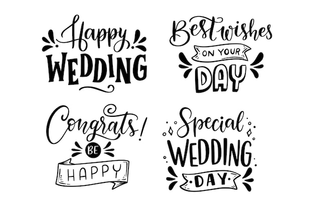 Greetings lettering set