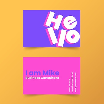 Greetings minimal business card template