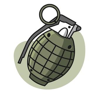 Grenade cartoon illustration