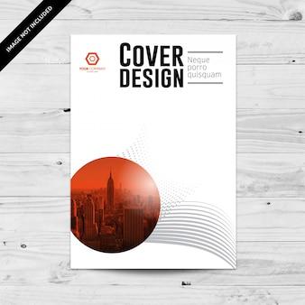 灰色の抽象的なカバーデザインテンプレート